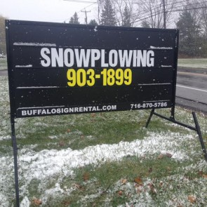 Snowplowing Sign