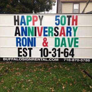 Anniversary Sign