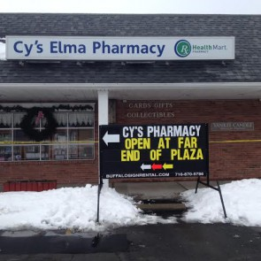 Cy's Pharmacy Sign