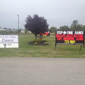 2 Dance Studio Signs