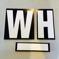 white-lettering